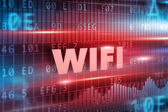 Wifi red text — Stock Photo
