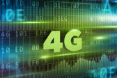 4G green text — Stock Photo