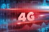 4G red text — Stock Photo