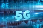 5G blue text — Stock Photo