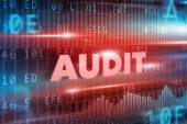 Audit red text — Stock Photo