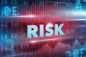 Risk blue text — Stock Photo