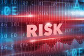 Risk red text — Stock Photo