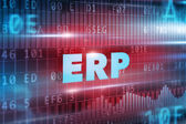 ERP blue text — Stock Photo