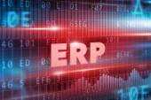 ERP red text — Stock Photo