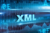 XML blue text — Foto de Stock