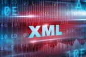 XML blue text — Stockfoto