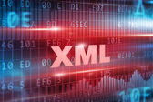 XML red text — Foto de Stock