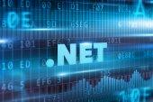 Dot net blue text — Stock Photo