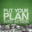 Put your plan into action on blackboard — Stock Photo #72780411