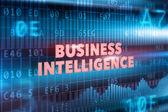 Business intelligence technology concept — Stock Photo