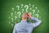 Question Mark on Blackboard — Stock Photo