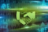 Handshake abstract — Stock Photo
