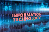 Information technology concept background — Stock Photo