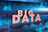 Big data background — Stock Photo