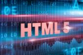 HTML 5 on blackboard — Stock Photo
