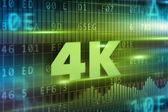 4K concept — Stock Photo