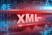XML abstract concept  — Stockfoto