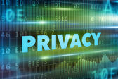 Privacy concept — Stock Photo