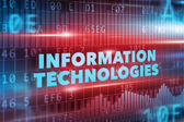 Information technologies concept — Stock Photo