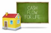 Cash flow for life on blackboard — Stock Photo