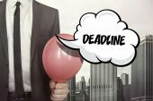 Deadline text on speech bubble — Stock Photo