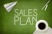 Sales plan concept — Stock Photo