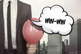 Win win text on speech bubble — Stock Photo