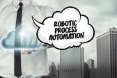 Robotic process automation text on cloud computing theme with businessman — Stock Photo