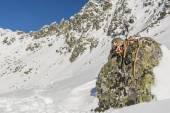 Winter equipment mountaineer — Stock Photo