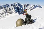 Mountaineer equipment — Stock Photo