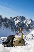 Winter tourist equipment — Stock Photo