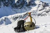 Winter mountaineer equipment — Stock Photo
