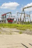 Elements of electrical substation — Stock Photo