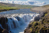 Landscape with waterfall, Iceland — Stockfoto