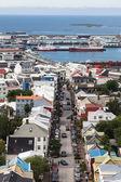 Downtown Reykjavik, bird-eye view — Stock Photo