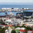 Downtown and port of Reykjavik — Stock Photo #58218413