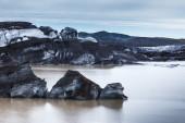 Glacier and icebergs, Iceland — Stock Photo