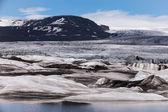 Glacier in a sunny day, Iceland — Stock fotografie