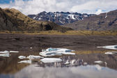 Lake with icebergs, Iceland — Stock Photo