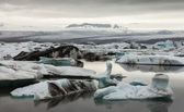 Glacier and icebergs in Iceland — Stock Photo