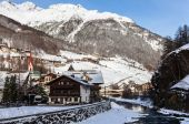 Soelden - ski resort, Austria — Stock Photo