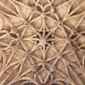 Gothic ceiling of cathedral in Albi, France — Stock Photo