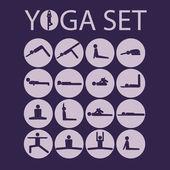 Yoga stick man — Stock Vector