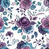 Watercolor flowers wallpaper — Stock Vector