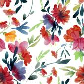 Watercolor flowers wallpaper — Stok Vektör
