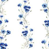 Blue flowers 7 — Vector de stock