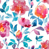 Rose, watercolor, pattern — Stock Photo