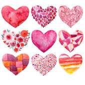Valentines day watercolor heart holiday love object — Foto de Stock