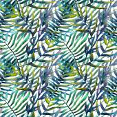 Leaves abstract pattern background wallpaper watercolor — Stock Photo
